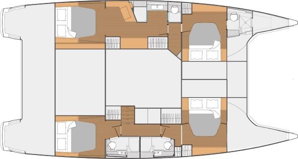 SABA 50 – Layout 4 cabins
