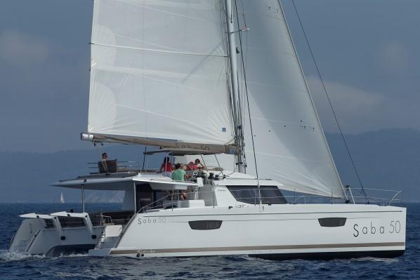 FP Saba 50 – sailing front