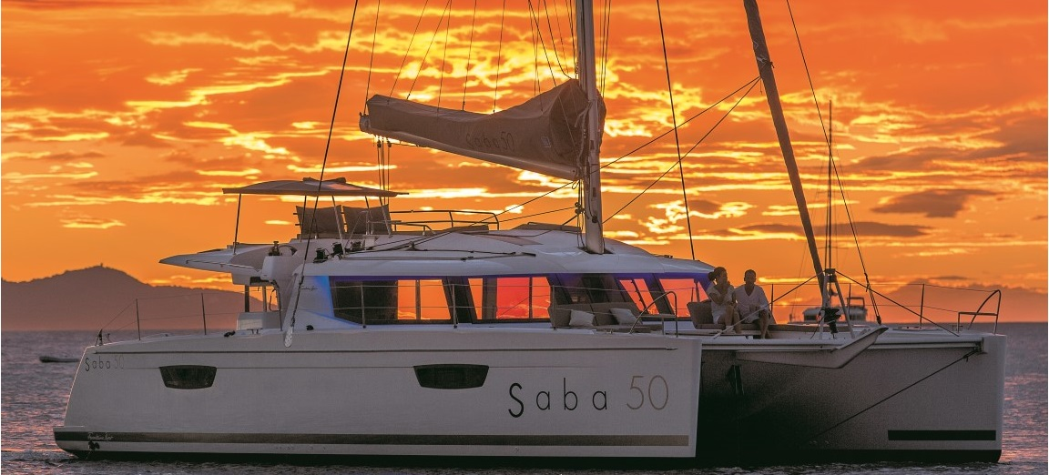 Saba 50 - Mooring sunset