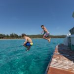 Saona 47 - Aft Swimming and hidraulic platform
