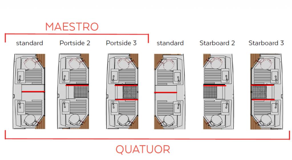 Astrea 42 - Layout - bathrooms