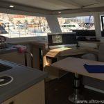 FP Lucia 40 Catamaran Charter Croatia Saloon