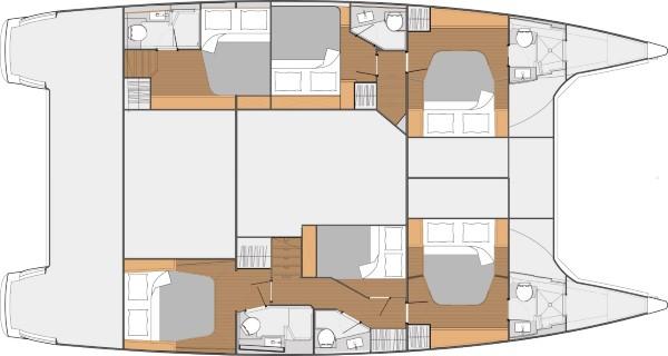 SABA 50 – Layour 6 cabins
