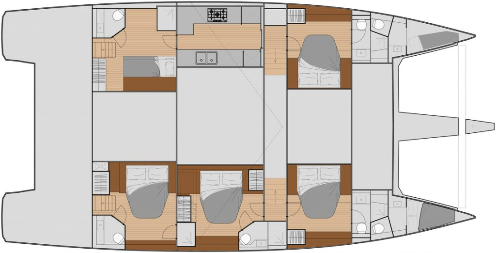New 59 - Charter 5 cabins layout
