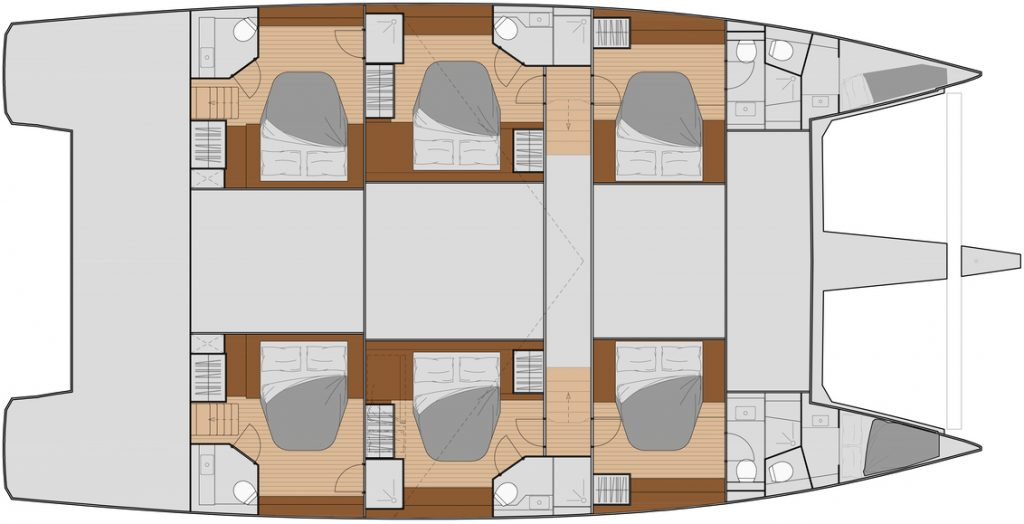 New 59 - charter 6 cabins layout