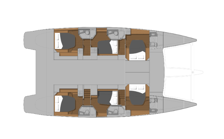 Ipanema 58 – layout 6 cabins