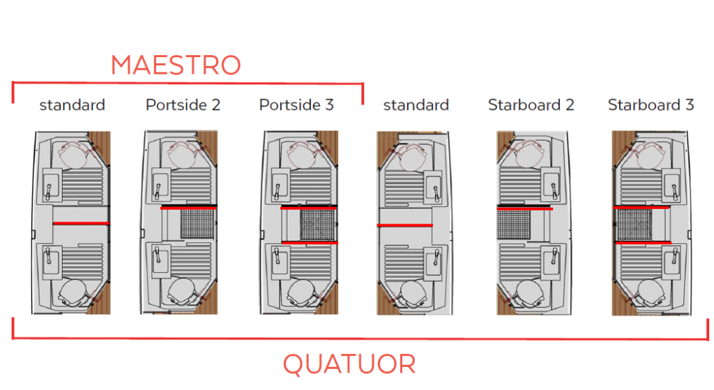 Astrea 42 - Layout - bathrooms