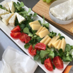 Cheese and salad catamaran